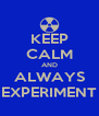 KEEP CALM AND ALWAYS EXPERIMENT - Personalised Poster A4 size