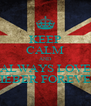 KEEP CALM AND ALWAYS LOVE BIEBER FOREVER - Personalised Poster A4 size