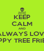 KEEP CALM AND ALWAYS LOVE HAPPY TREE FRIEND - Personalised Poster A4 size