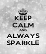 KEEP CALM AND ALWAYS SPARKLE - Personalised Poster A4 size