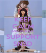 KEEP CALM AND ALWAYS SUPPORT SNSD - Personalised Poster A4 size