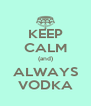 KEEP CALM (and) ALWAYS VODKA - Personalised Poster A4 size