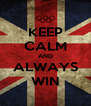 KEEP CALM AND ALWAYS WIN - Personalised Poster A4 size