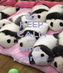 KEEP CALM AND ama  i panda  - Personalised Poster A4 size