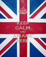 KEEP CALM AND AMAME BERE - Personalised Poster A4 size