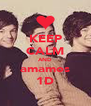 KEEP CALM AND amamos 1D - Personalised Poster A4 size