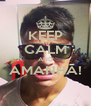 KEEP CALM AND AMANHÃ!  - Personalised Poster A4 size