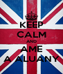 KEEP CALM AND AME A ALUANY - Personalised Poster A4 size