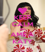 KEEP CALM and AME A KATY - Personalised Poster A4 size