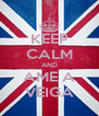 KEEP CALM AND AME A VEIGA - Personalised Poster A4 size