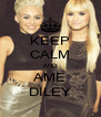 KEEP CALM AND AME DILEY - Personalised Poster A4 size