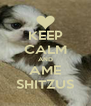 KEEP CALM AND AME SHITZUS - Personalised Poster A4 size