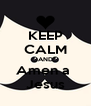 KEEP CALM AND Amen a  Jesus - Personalised Poster A4 size
