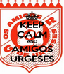 KEEP CALM AND AMIGOS URGESES - Personalised Poster A4 size