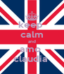 keep  calm and amo  claudia  - Personalised Poster A4 size