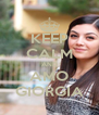 KEEP CALM AND AMO GIORGIA - Personalised Poster A4 size