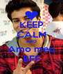 KEEP CALM AND Amo meu BFF - Personalised Poster A4 size