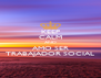 KEEP CALM AND AMO SER TRABAJADOR SOCIAL - Personalised Poster A4 size