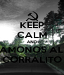 KEEP CALM AND AMONOS AL CORRALITO - Personalised Poster A4 size