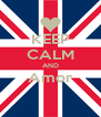 KEEP CALM AND Amor  - Personalised Poster A4 size