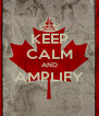 KEEP CALM AND AMPLIFY  - Personalised Poster A4 size