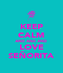 KEEP CALM AND AND AND LOVE SEÑORITA - Personalised Poster A4 size
