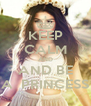 KEEP CALM AND AND BE A  PRINCESS - Personalised Poster A4 size