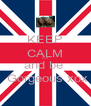 KEEP CALM and  and be   Gorgeous xox - Personalised Poster A4 size