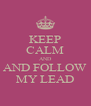 KEEP CALM AND AND FOLLOW MY LEAD - Personalised Poster A4 size