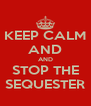 KEEP CALM AND AND STOP THE SEQUESTER - Personalised Poster A4 size