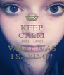 KEEP CALM AND....AND WHAT WAS I SAYING? - Personalised Poster A4 size