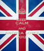 KEEP CALM AND ANDREA LOPEZ 2012 - Personalised Poster A4 size