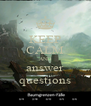 KEEP CALM AND answer questions - Personalised Poster A4 size