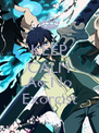 KEEP CALM AND Ao No Exorcist - Personalised Poster A4 size