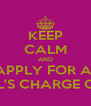 KEEP CALM AND APPLY FOR A  KOHL'S CHARGE CARD - Personalised Poster A4 size
