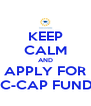 KEEP CALM AND APPLY FOR DC-CAP FUNDS - Personalised Poster A4 size