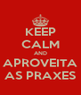 KEEP CALM AND APROVEITA AS PRAXES - Personalised Poster A4 size