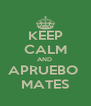 KEEP CALM AND  APRUEBO  MATES - Personalised Poster A4 size