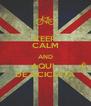 KEEP CALM AND          AQUI         É DE BICICLETA - Personalised Poster A4 size