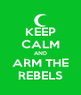 KEEP CALM AND ARM THE REBELS - Personalised Poster A4 size