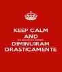KEEP CALM AND AS LISTAS DE ESPERA DIMINUIRAM DRASTICAMENTE - Personalised Poster A4 size