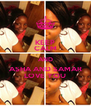 KEEP CALM AND ASHA AND SAMAR LOVE YOU - Personalised Poster A4 size