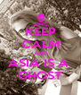 KEEP CALM AND ASIA IS A  GHOST - Personalised Poster A4 size