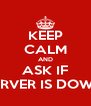 KEEP CALM AND ASK IF SSERVER IS DOWNN - Personalised Poster A4 size