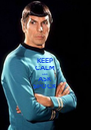KEEP CALM AND ASK SPOCK - Personalised Poster A4 size