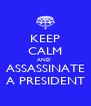 KEEP CALM AND  ASSASSINATE A PRESIDENT - Personalised Poster A4 size