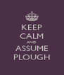 KEEP CALM AND ASSUME PLOUGH - Personalised Poster A4 size