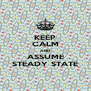 KEEP CALM AND ASSUME STEADY STATE - Personalised Poster A4 size