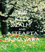 KEEP CALM AND ASTEAPTA PRIMAVARA - Personalised Poster A4 size