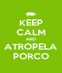 KEEP CALM AND ATROPELA PORCO - Personalised Poster A4 size